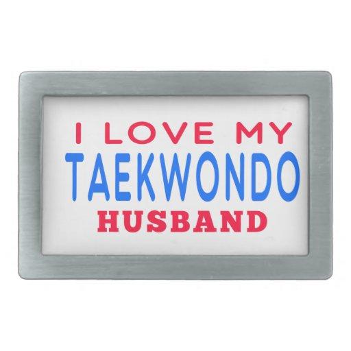 I Love My Taekwondo Husband Belt Buckle