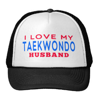 I Love My Taekwondo Husband Mesh Hat