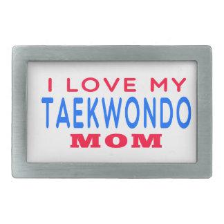 I Love My Taekwondo Mom Rectangular Belt Buckles