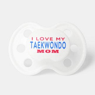 I Love My Taekwondo Mom Pacifier