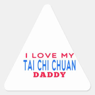 I Love My Tai Chi Chuan Daddy Triangle Stickers