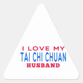I Love My Tai Chi Chuan Husband Triangle Sticker