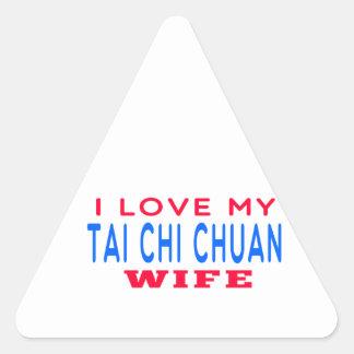 I Love My Tai Chi Chuan Wife Triangle Sticker