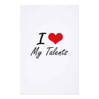 I love My Talents Stationery