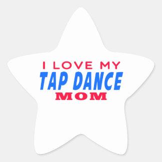 I Love My Tap dance Mom Stickers