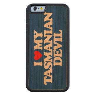 I LOVE MY TASMANIAN DEVIL CARVED® CHERRY iPhone 6 BUMPER CASE