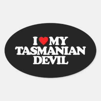 I LOVE MY TASMANIAN DEVIL STICKER