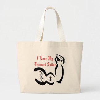 I Love My Tattoed Sailor Tote Bag