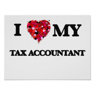 I love my Tax Accountant Poster