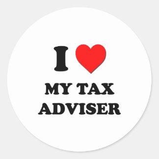 I love My Tax Adviser Round Stickers