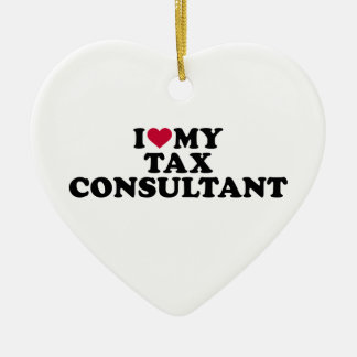 I love my tax consultant ceramic ornament