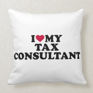 I love my tax consultant throw pillow