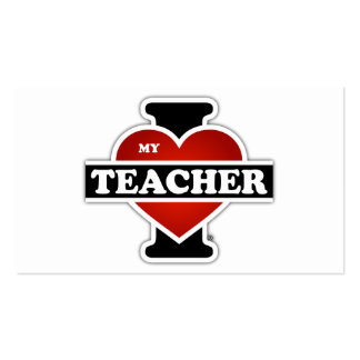 I Love My Teacher Double-Sided Standard Business Cards (Pack Of 100)