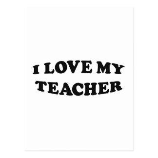 I Love My Teacher Postcards