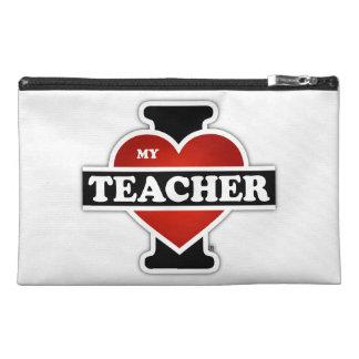 I Love My Teacher Travel Accessory Bags