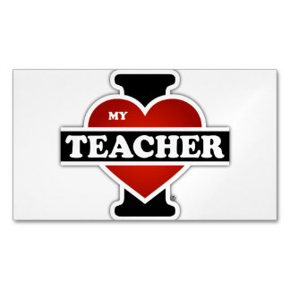 I Love My Teacher Magnetic Business Cards (Pack Of 25)