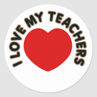 I Love My Teachers (big heart) Classic Round Sticker