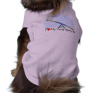 I Love my Teacup Agility Dog Pet T-shirt