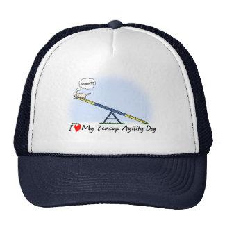 I Love my Teacup Agility Dog Hat