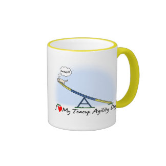 I Love my Teacup Agility Dog Mug