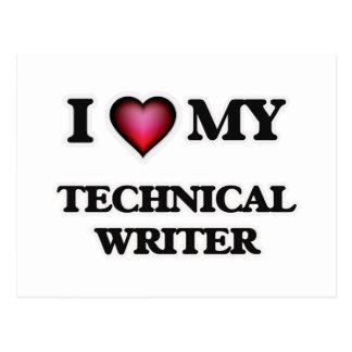 I love my Technical Writer Postcard
