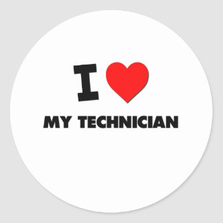 I love My Technician Classic Round Sticker