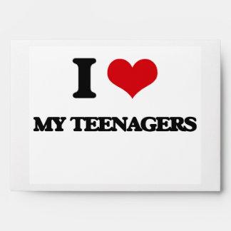 I love My Teenagers Envelope