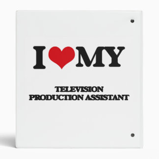 I love my Television Production Assistant 3 Ring Binders