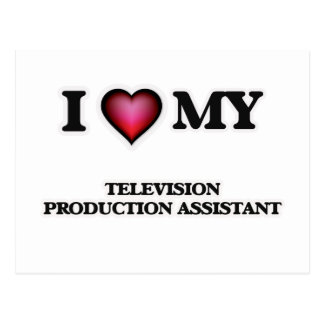 I love my Television Production Assistant Postcard
