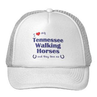 I Love My Tennessee Walking Horses (Multi Horses) Mesh Hat