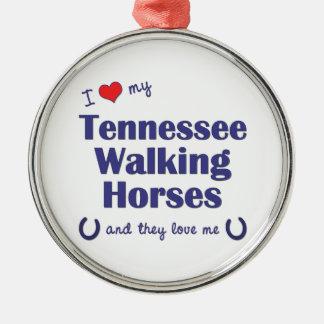 I Love My Tennessee Walking Horses (Multi Horses) Christmas Tree Ornament