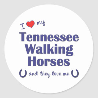I Love My Tennessee Walking Horses (Multi Horses) Stickers
