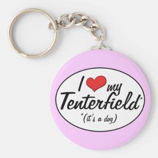 I Love My Tenterfield (It's a Dog) Basic Round Button Keychain