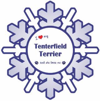 I Love My Tenterfield Terrier (Female Dog) Photo Sculpture Ornament