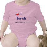 I Love My Tersk (Female Horse) Baby Bodysuits