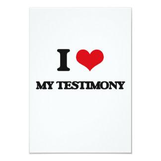 I love My Testimony 3.5x5 Paper Invitation Card