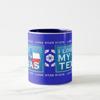 I Love My Texas Coffee Mug