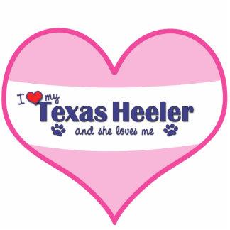 I Love My Texas Heeler (Female Dog) Photo Sculpture Ornament