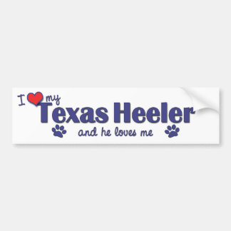 I Love My Texas Heeler (Male Dog) Bumper Sticker