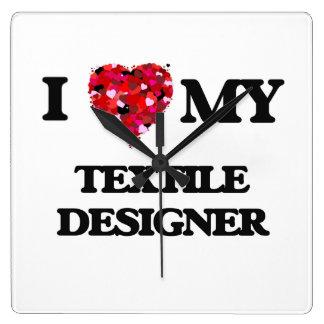 I love my Textile Designer Square Wall Clocks