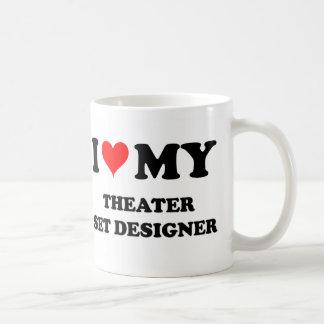 I Love My Theater Set Designer Coffee Mugs