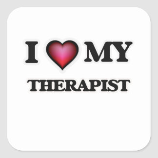 I love my Therapist Square Sticker