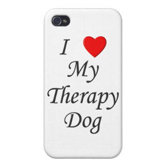 I Love My Therapy Dog iPhone 4/4S Cases