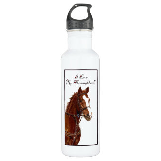 I Love My Thoroughbred Liberty Water Bottle