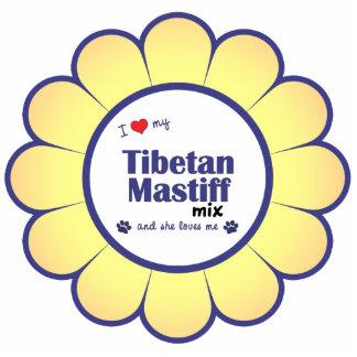 I Love My Tibetan Mastiff Mix (Female Dog) Photo Sculpture