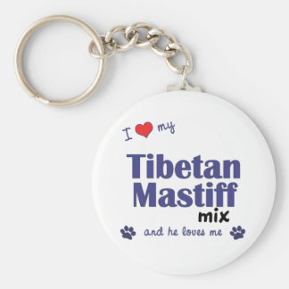 I Love My Tibetan Mastiff Mix (Male Dog) Key Chain