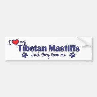 I Love My Tibetan Mastiffs (Multiple Dogs) Bumper Stickers