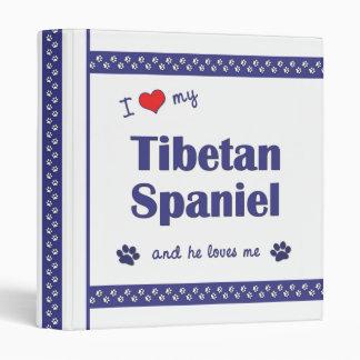 I Love My Tibetan Spaniel (Male Dog) 3 Ring Binder