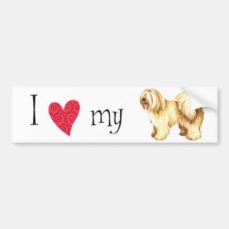 I Love my Tibetan Terrier Bumper Stickers