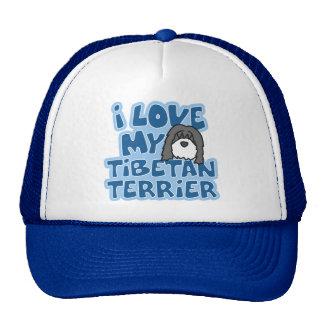 I Love My Tibetan Terrier Hat
